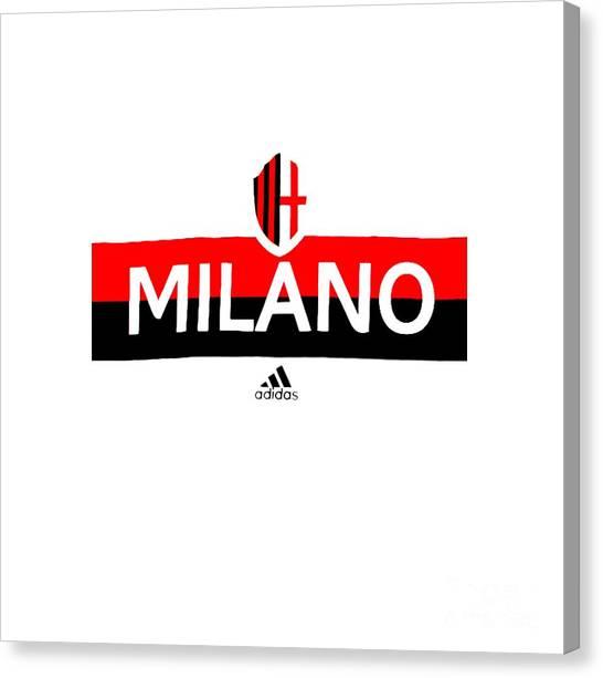 Ac Milan Canvas Print - Ac Milan by Marco Poloy