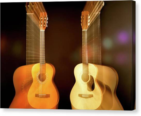 Guitars Canvas Print - Acoustic Overtone by Leland D Howard