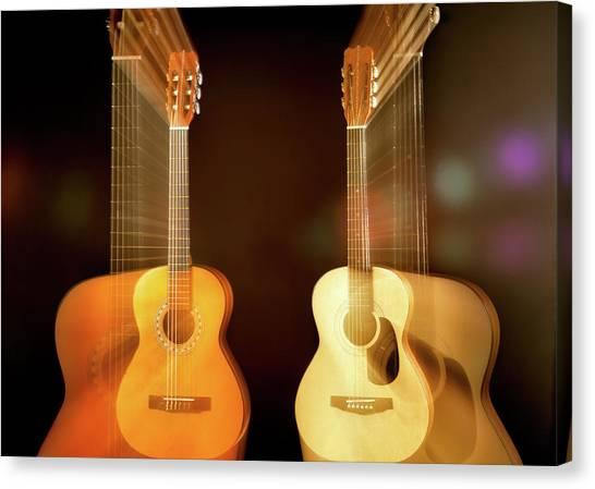 Acoustic Guitars Canvas Print - Acoustic Overtone by Leland D Howard