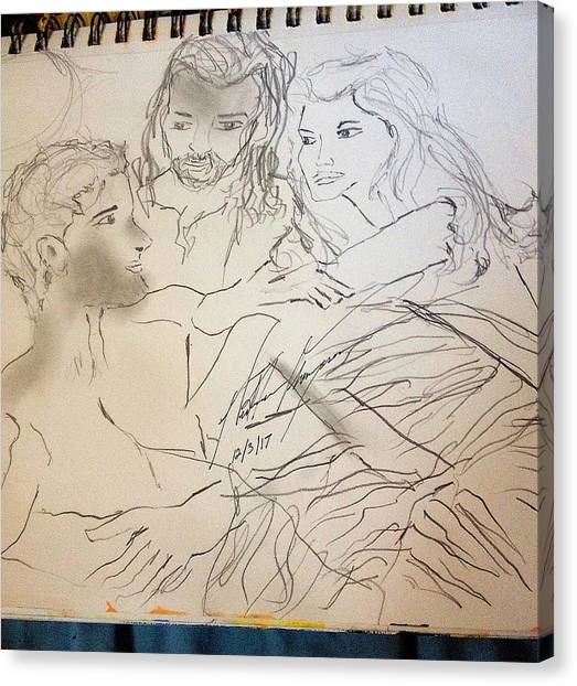 God Canvas Print - Adam Andeve The Creation Story by Love Art Wonders By God