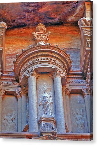 Mortal Kombat Canvas Print - Al Khazneh Or The Treasury At Petra. by Andy Za