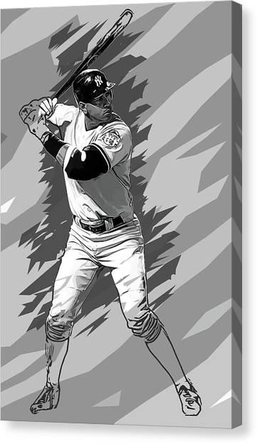 Seattle Mariners Canvas Print - Alex Rodriguez by Anna J Davis