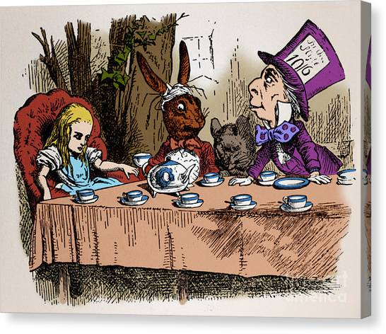 March Hare Canvas Print - Alice In Wonderland by Photo Researchers, Inc.
