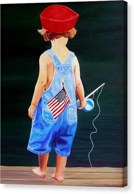 All American Boy Canvas Print