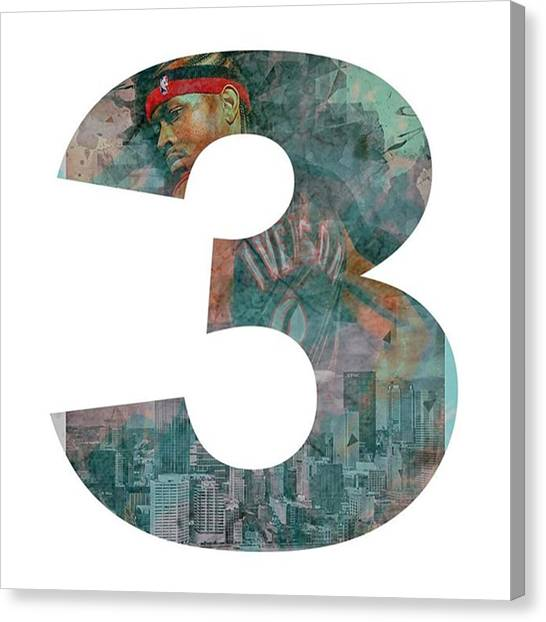 Basketball Canvas Print - Allen Iverson The Answer Ai by David Haskett II