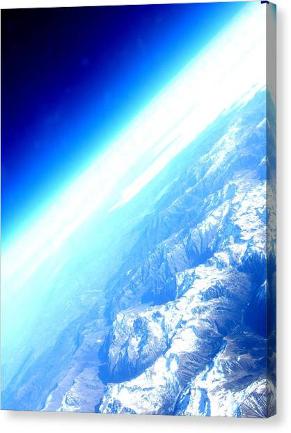 Alpine From Sky Canvas Print