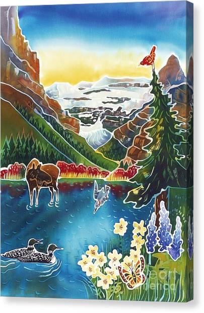 Loon Canvas Print - Alpine Lake Sunrise by Harriet Peck Taylor