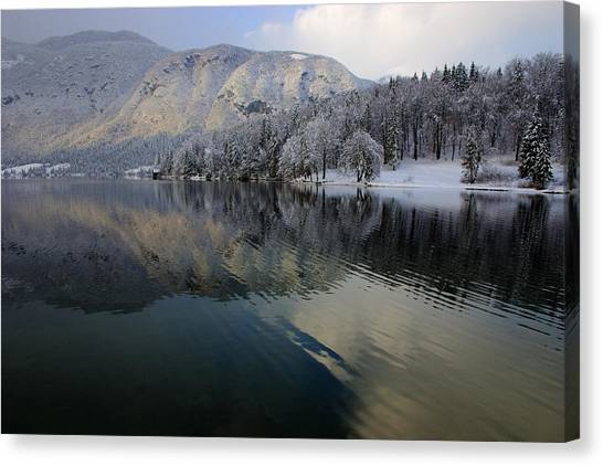 Alpine Winter Reflections Canvas Print