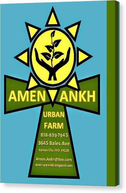 Amen Ankh Canvas Print