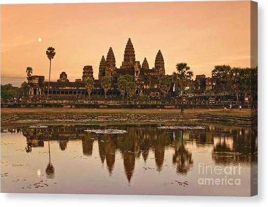 Canvas Print featuring the photograph Angkor Wat by Juergen Held