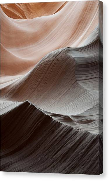 Black Rock Desert Canvas Print - Antelope Canyon Desert Abstract by Mike Irwin