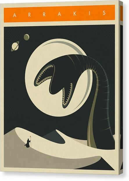 Science Canvas Print - Arrakis Travel Poster  by Jazzberry Blue