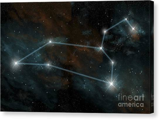 Delta Gamma Canvas Print - Artists Depiction Of The Constellation by Marc Ward