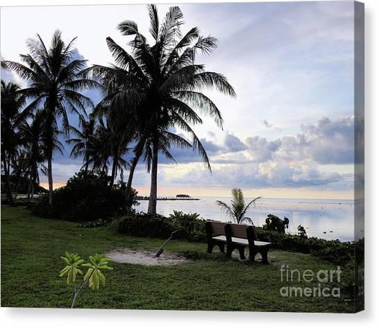 Asan Beach Guam Canvas Print