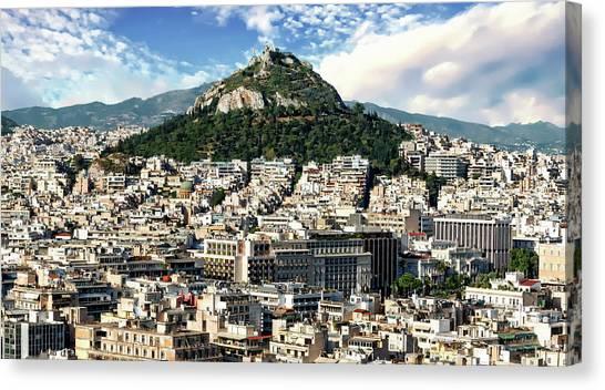 Athens Panorama Canvas Print