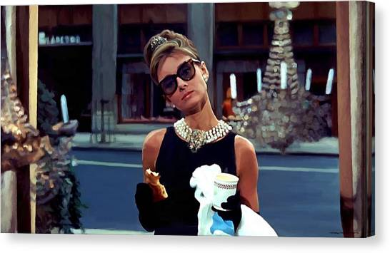 Audrey Hepburn @ Breakfast At Tiffanys Canvas Print