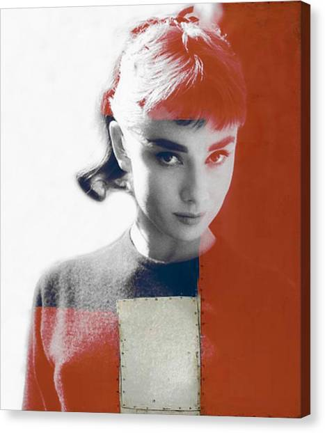 Fashion Canvas Print - Audrey Hepburn  by Paul Lovering