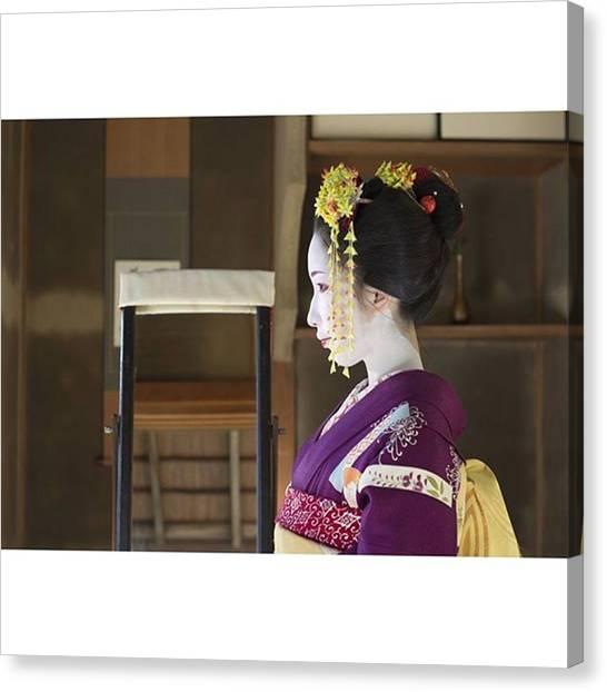 Fairies Canvas Print - Author Japanexperterna.se #kimono by Kanna Fairy