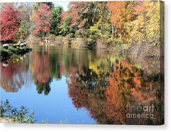Autumn In New England Canvas Print by Amy Holmes