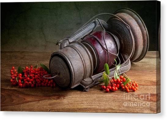 Berries Canvas Print - Autumn Still Life by Nailia Schwarz