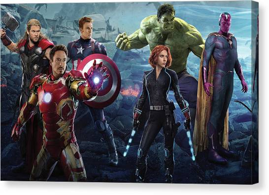 Trombones Canvas Print - Avengers Age Of Ultron by Maye Loeser