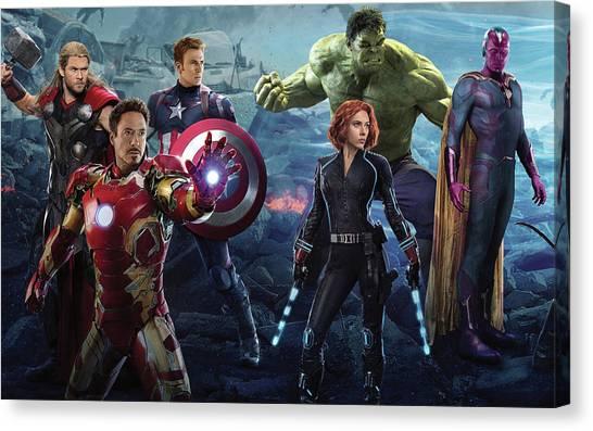 Trombones Canvas Print - Avengers Age Of Ultron by Maye Loeser