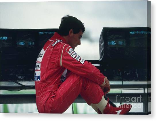 Ayrton Senna. 1992 French Grand Prix Canvas Print