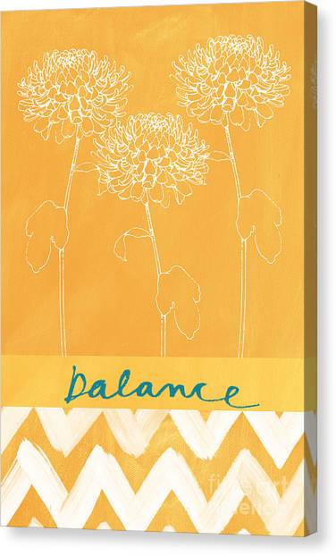 Garden Flowers Canvas Print - Balance by Linda Woods