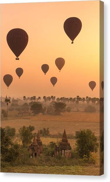 Balloons Sky Canvas Print