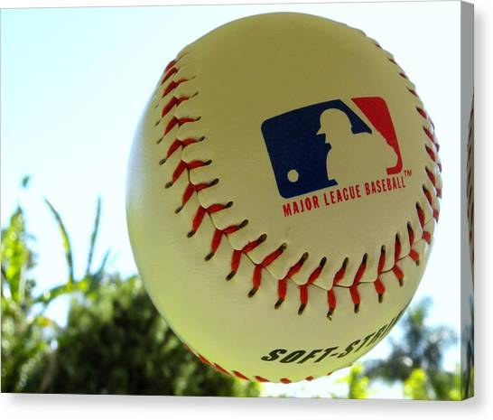 Baseball Teams Canvas Print - Baseball by Super Lovely