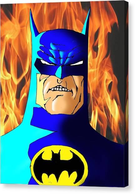 Ben Affleck Canvas Print - Old Batman by Salman Ravish