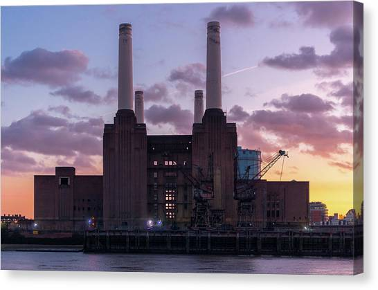 Canvas Print featuring the photograph Battersea Power Station by Stewart Marsden
