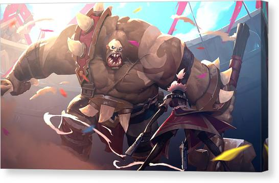 Artichoke Canvas Print - Battlerite by Super Lovely