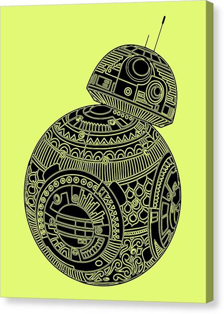 Droid Canvas Print - Bb8 Droid - Star Wars Art, Brown by Studio Grafiikka