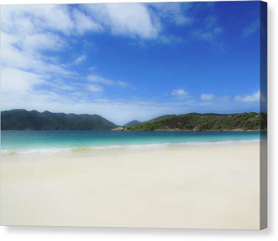 Flying Canvas Print - Beach by Cesar Vieira