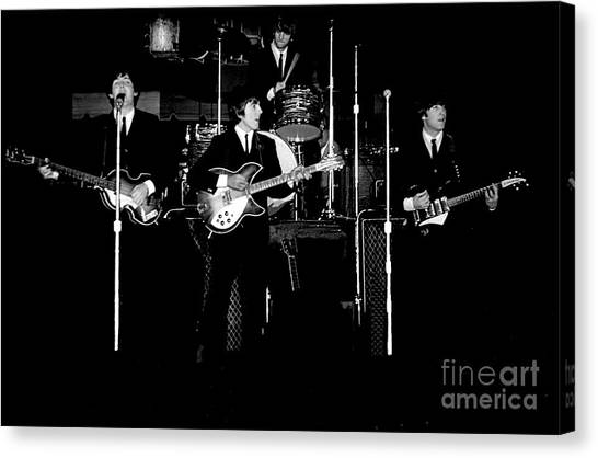 Beatles In Concert 1964 Canvas Print