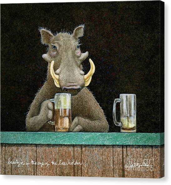 Beauty Is In The Eye Of The Beerholder... Canvas Print