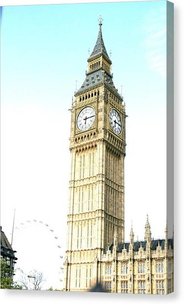 Parliament Canvas Print - Ben# by MGhany