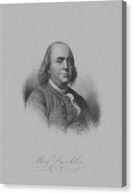 Ben Franklin Canvas Print - Benjamin Franklin by War Is Hell Store