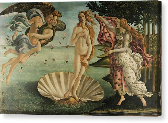 Botticelli Canvas Print - The Birth Of Venus, Detail by Sandro Botticelli
