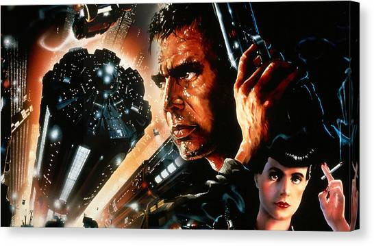 Microphones Canvas Print - Blade Runner by Super Lovely