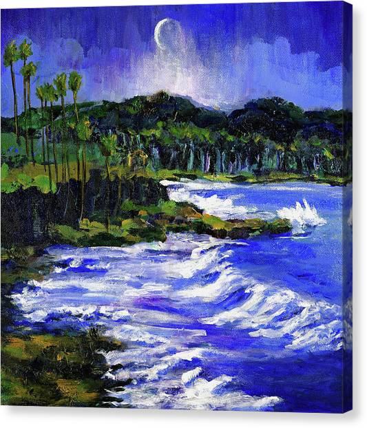 Blue Moon Over Laguna Beach Canvas Print