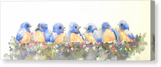 Bluebird Friends Canvas Print