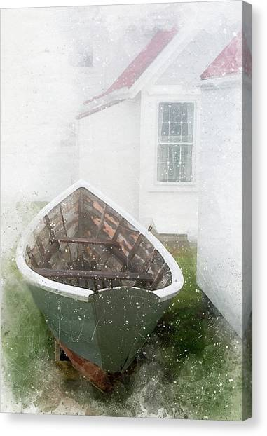 Boat On Monhegan Island Canvas Print