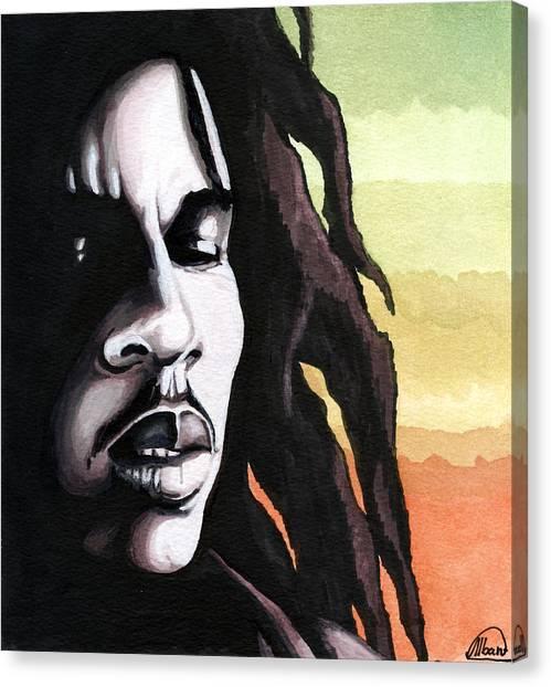 Bob Marley Portrait Canvas Print by Alban Dizdari