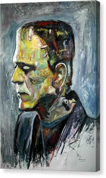 Grinch Canvas Print - Boris Karloff - Frankenstein by Marcelo Neira