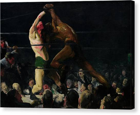 Knockout Canvas Print - Both Members Of This Club by George Bellows