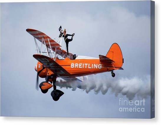 Boeing Canvas Print - Breitling Wing Walker by Smart Aviation