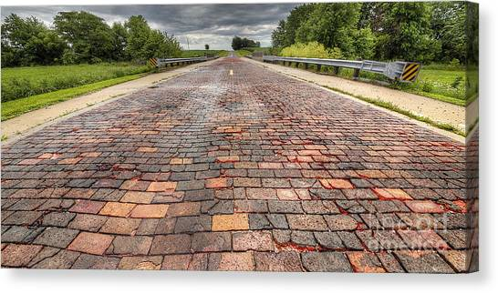 Pavers Canvas Print - Brick 66 by Twenty Two North Photography