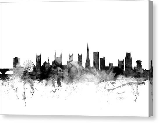 Bristol Canvas Print - Bristol England Skyline by Michael Tompsett